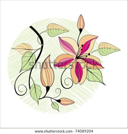 beauty background with pure flowers - stock vector