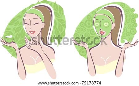 Beauty care - stock vector