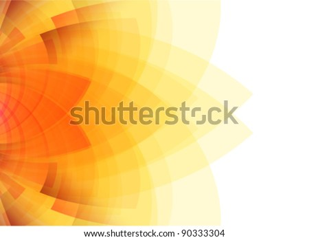 beauty concept sunflower illustration - stock vector