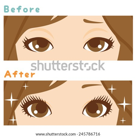 Beauty Eye Care - stock vector