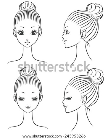 Beauty face - stock vector