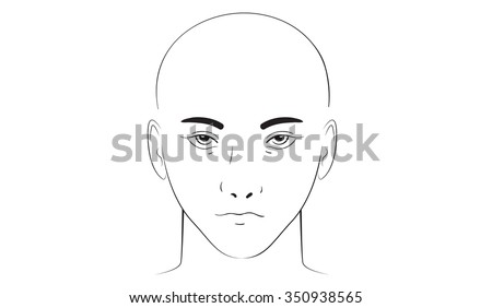 Beauty Face Vector Illustration