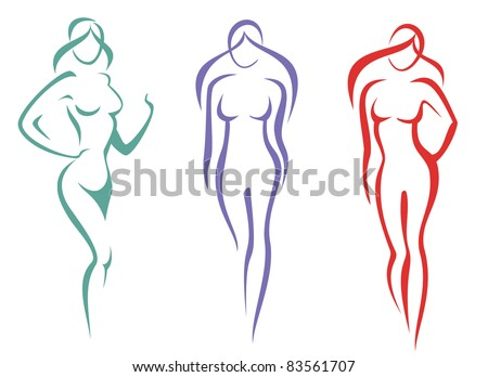 beauty, fashion concept. beautiful woman silhouette icon - stock vector