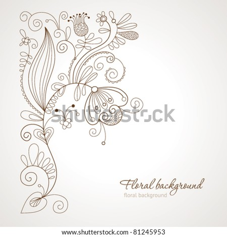 beauty floral illustration - stock vector