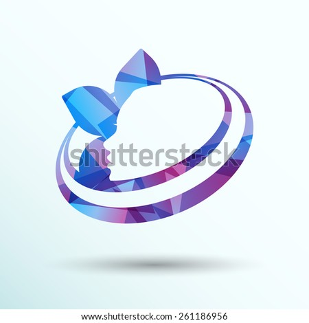 beauty icon skin care health vector design spa abstract. - stock vector