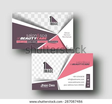 Beauty Salon Business Card Design - stock vector