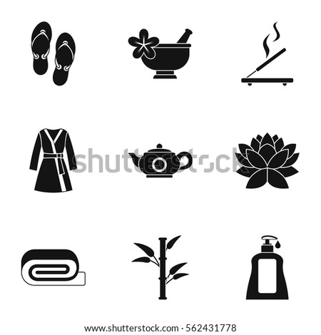 Beauty salon icons set simple illustration stock vector for Salon simple