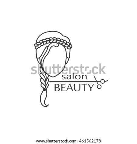 beauty salon logo design vector template stock vector royalty free