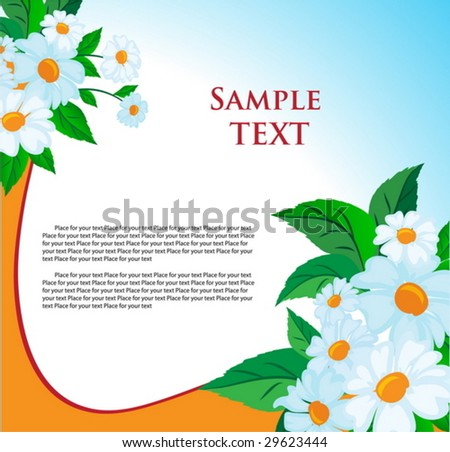 Beauty summer floral background