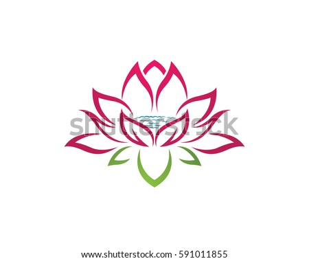 Beauty vector lotus flowers design logo stock vector 591011855 beauty vector lotus flowers design logo template icon pronofoot35fo Choice Image