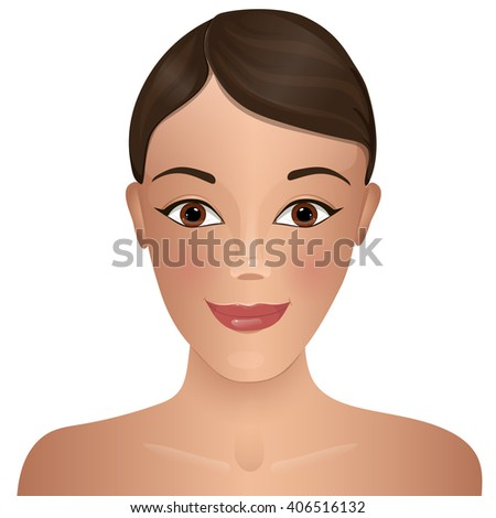 Beauty. Woman's face. - stock vector