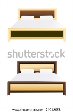 Bed. Isolated vector - stock vector