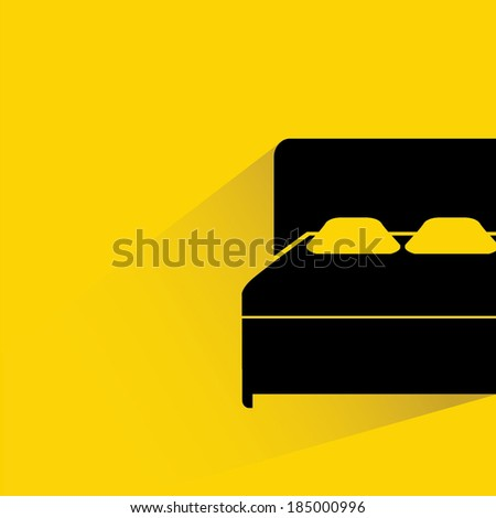 bed room background - stock vector