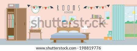 Bedroom (Rooms) - stock vector