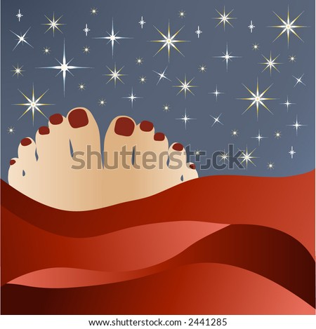 bedtime with stars vector - stock vector