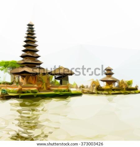 Bedugul Bali Background - stock vector