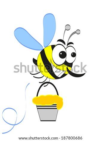 Bee, cartoon. - stock vector