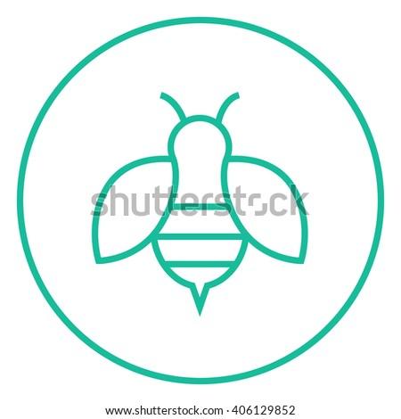 Bee Line Icon Stock Vector 393601981 - Shutterstock