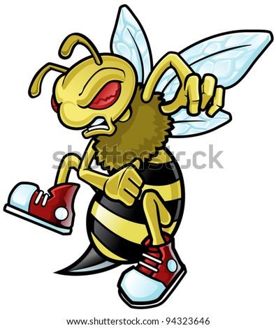 Bee Mascot - stock vector