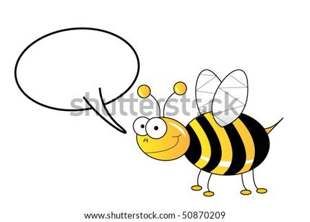 Bee speaking - stock vector