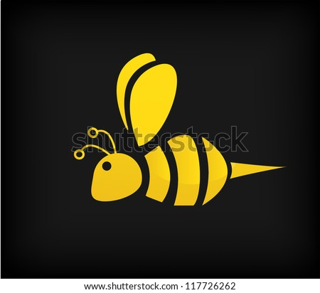 Bee (vector) - stock vector