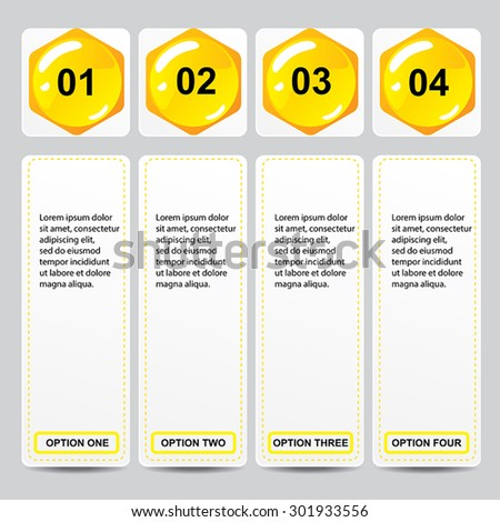 Beehive modern design business number banners template or website layout. Info-graphics. Vector.  - stock vector