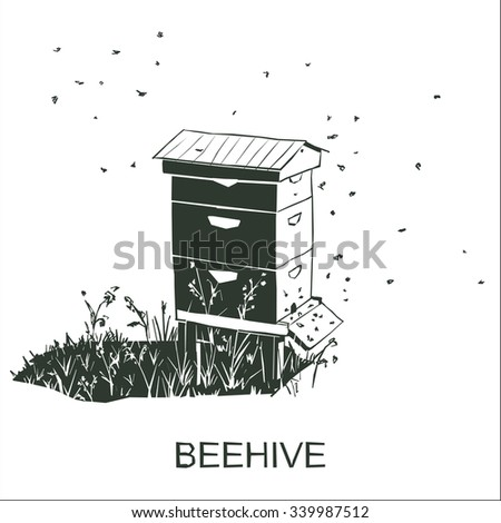 Beehive vector isolated - stock vector