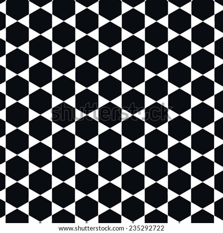beehive vector pattern in black and white - stock vector