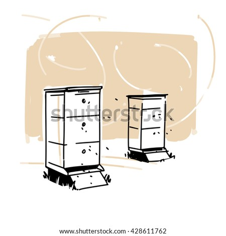 Bee Hive Sketch Stock Images Royalty Free Vectors