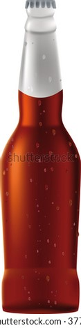 beer and drop bottle - stock vector