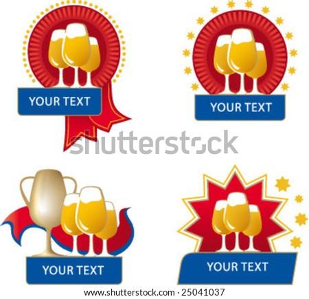 beer award - stock vector