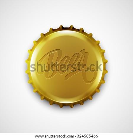 Beer bottle cap. Vector illustration EPS 10 - stock vector