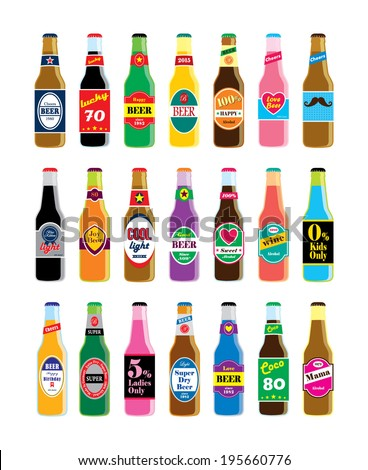 beer bottle vector illustration - stock vector
