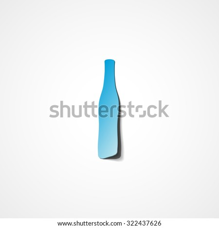 beer bottle web icon on white background