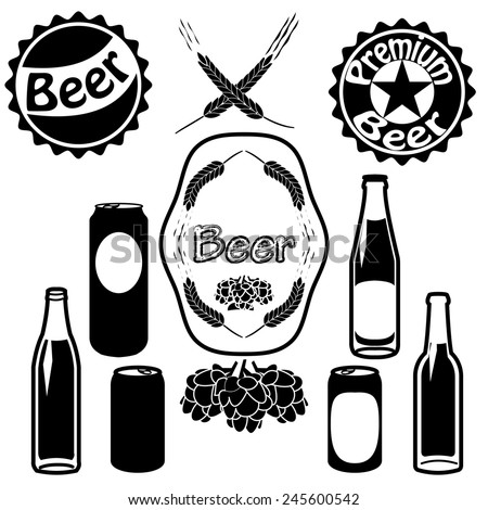 Beer Bottles Drawing Beer Bottles Cans And Caps