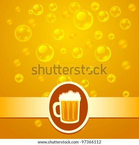 Beer bubbles - stock vector