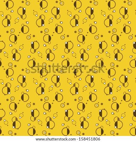 Beer bubbles abstract pattern. Light version. Vector illustration - stock vector