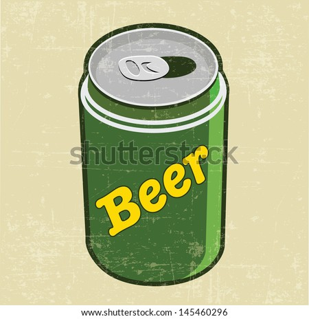 beer can - stock vector