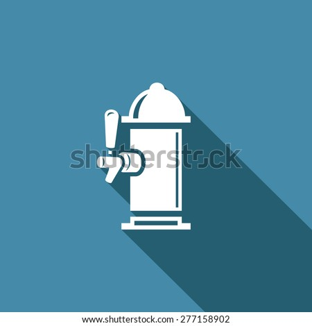 Beer column vector icon. Vector Illustration - stock vector