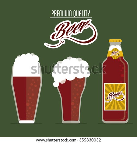 Beer concept  with glass design, vector illustration 10 eps graphic.