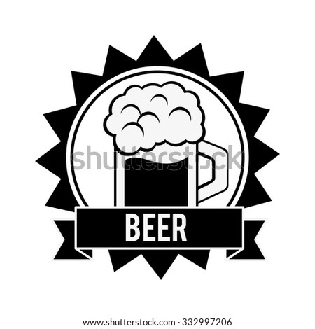 Beer concept with glasses design, vector illustration 10 eps graphic.