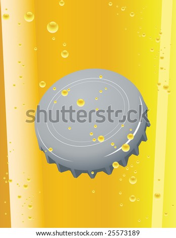 Beer cork, vector illustration, EPS file included - stock vector