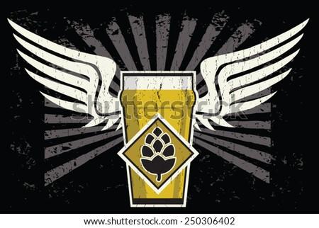 beer flight - stock vector