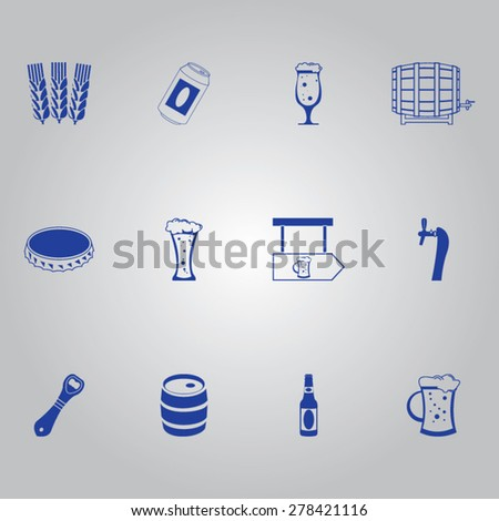 Beer Icon Set - stock vector