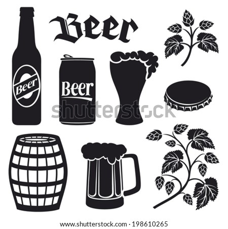 lager beer stencil