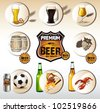 beer icons web - stock vector