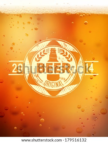 Beer label - stock vector