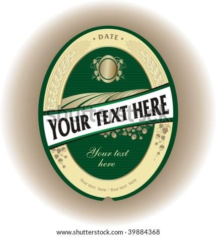 Beer label 1 - stock vector