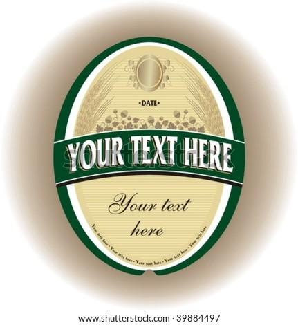 beer label 2 - stock vector