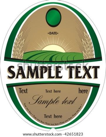 Beer label - stock vector